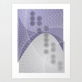 Purple Skyfall Art Print