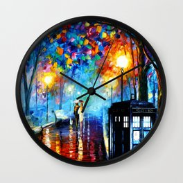 STARRY NIGHT TARDIS Wall Clock