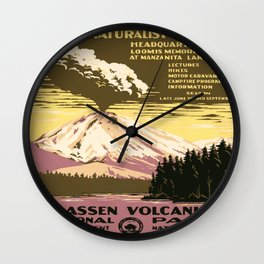 Vintage poster - Lassen Volcanic National Park Wall Clock