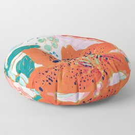 Orange Lily Floor Pillow