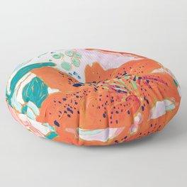 Orange Lily Floor Pillow