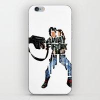 ripley iPhone & iPod Skins featuring Ellen Ripley from Alien by Ayse Deniz