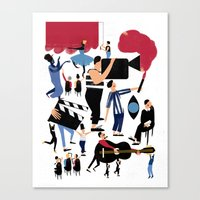 it crowd Canvas Prints featuring CROWD by Michela Buttignol