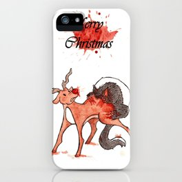 Honey Badger Christmas Rudolph iPhone Case