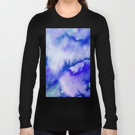 Watercolor texture - electric blue Long Sleeve T-shirt