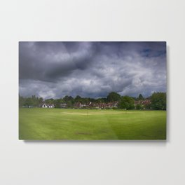 Bearsted Cricket Pitch Metal Print