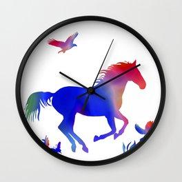 A horses freedom Wall Clock
