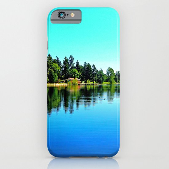 Summer lake view iPhone & iPod Case