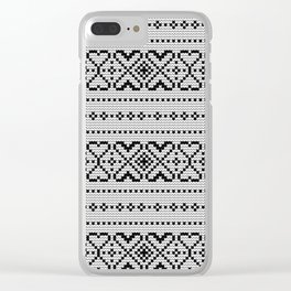 Pattern in Grandma Style #70 Clear iPhone Case