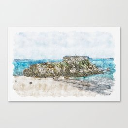 St. Catherine's Fort, Wales Canvas Print