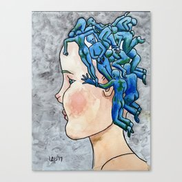 Tangles concept art Canvas Print