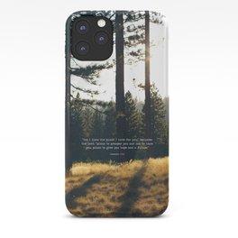 Golden Jeremiah 29:11 iPhone Case