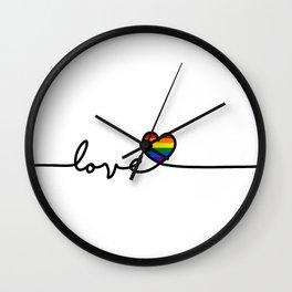 LGBT Love Wall Clock