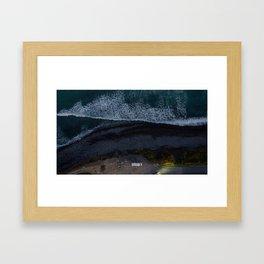 kaikoura vertical view camper coast line scenic Framed Art Print