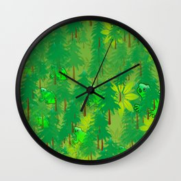 FROG FOREST Wall Clock