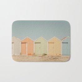Summer Beach Huts Bath Mat