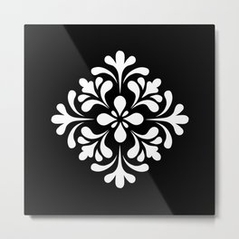 Black and white lace Metal Print