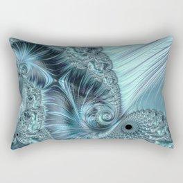 Ice Blue Fractal Fantasy Rectangular Pillow