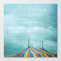 circus Canvas Prints featuring Circus by The Last Sparrow