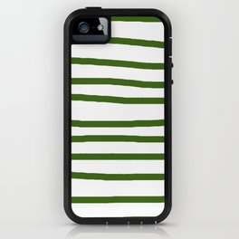 Simply Drawn Stripes in Jungle Green iPhone Case