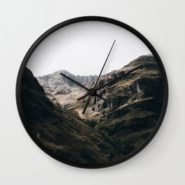 The Mountains III / Lost Valley Wall Clock