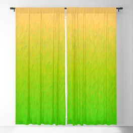 Orange Yellow Green Ombre Flames Blackout Curtain