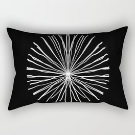 White Coral Rectangular Pillow