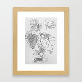Monstera. Living Framed Art Print