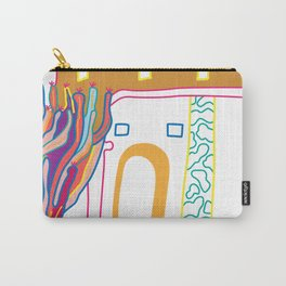 The Terrace And Place Of Olé - Colorful Drawing Carry-All Pouch