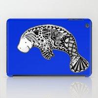 manatee iPad Cases featuring Manatee by Casey Virata