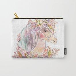 Unicorn print, giclée print, art print, unicorn wall art Carry-All Pouch