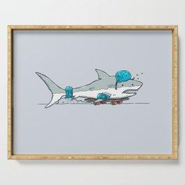 The Shark Skater Serving Tray