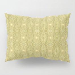Golden Gossamer Web Digital Art Pillow Sham