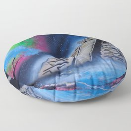 Mayan World By The Sea Floor Pillow