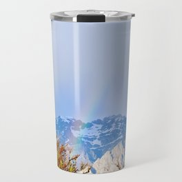 A wintry rainbow Travel Mug