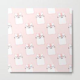 Sweet pink pattern Metal Print