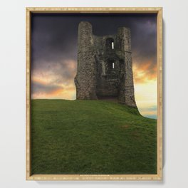 Sunset at Hadleigh Castle Serving Tray