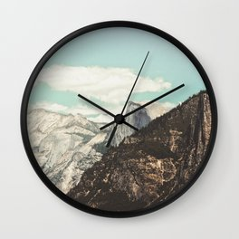 Half Dome Peek Wall Clock