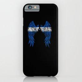 Honduran Flag Angel Wings Jesus Bible Christian iPhone Case