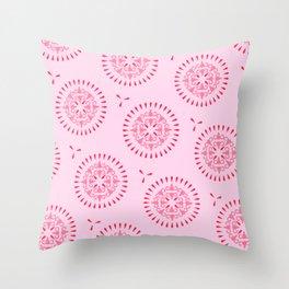 Uteri, Period. In pink Throw Pillow