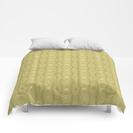 Golden Gossamer Web Digital Art Comforters