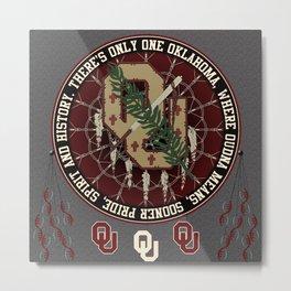 Oklahoma Sooner Dream catcher Metal Print