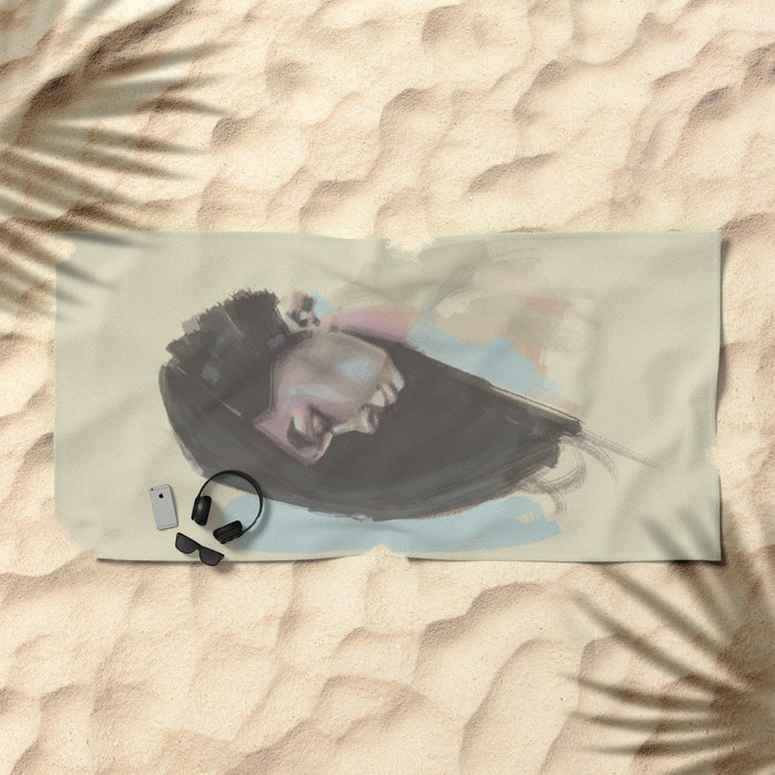 painty girl Beach Towel