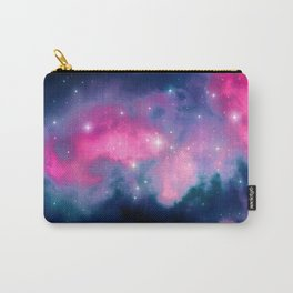 Beautiful Pink and Blue Abstract Cosmic Starry Vista Carry-All Pouch