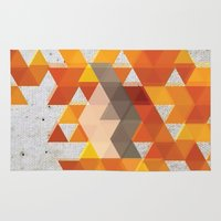coachella Area & Throw Rugs featuring Geometric Penguin by Joel M Young
