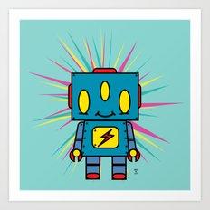 Vintage Kid Robot Art Print