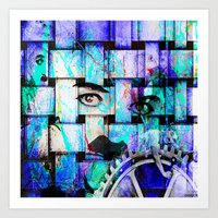 chaplin Art Prints featuring Chaplin  by Joe Ganech