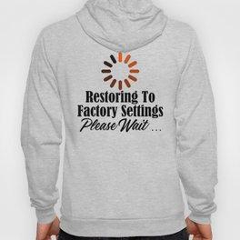 Funny Restore Factory Settings Design Tired Work Life Sucks Hoody