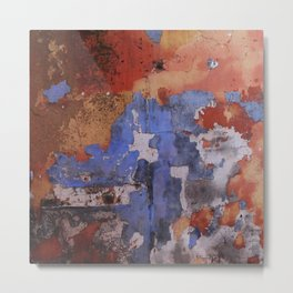 Abstract wall patchwork painting Metal Print