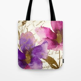 Pink and Purple Tote Bag